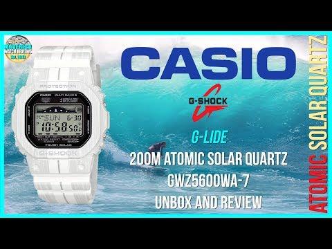 Best Surfing Watch! | Casio G-Shock G-Lide 200m Solar Atomic Quartz GWX5600WA-7 Unbox & Review