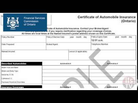 Ontario auto insurers need revised certificate