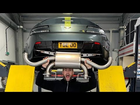 Loud New Exhaust For My Aston Martin V8 Vantage Amr Youtube