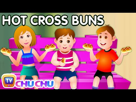 Hot Cross Buns Nursery Rhyme With Lyrics - Cartoon Animation Rhymes & Songs for Children