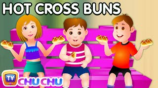Hot Cross Buns Nursery Rhyme With Lyrics - Cartoon Animation Rhymes & Songs for Children thumbnail