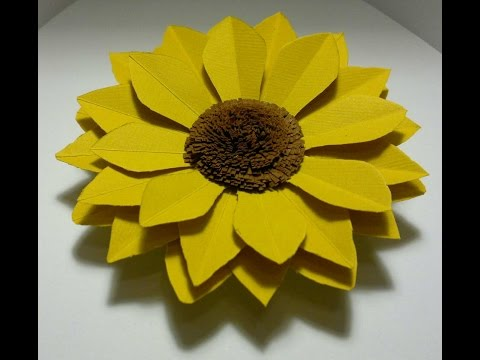 DIY Sunflower tutorial paper/cardboard