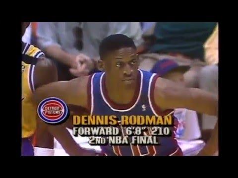 Dennis Rodman - Game 3 1989 Finals (12 pts., 19 reb., Makes All 6 Free Throws)
