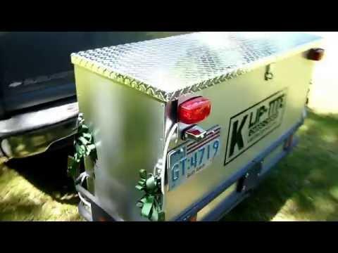 Klip-tite cargo carrier, hitch mounted aluminum travel box bumper mount luggage