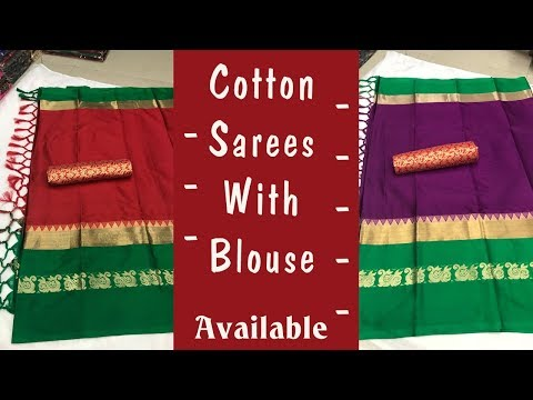 Cotton silk with running blouse | Extra Blouse | Free Shipping | Latest Collection |