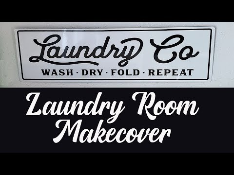 ORGANIZE WITH ME | Laundry Room Makeover | Laundry Closet Organization