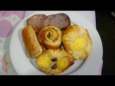 Panaderia, panes con masa danes, Receta #89,