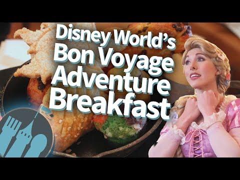 Disney World Ariel and Rapunzel Bon Voyage Character Breakfast