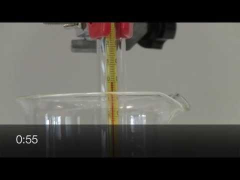 Solidification de l'eau