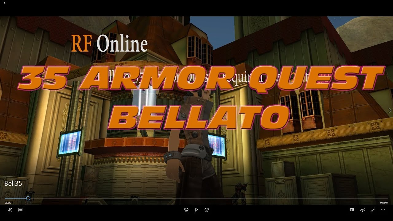 Rf Online Bellato Lvl35 Armor Quest Youtube