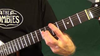 The  Zombies 3 hit songs: guitar lesson by Jim Moran