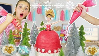 How To Make Christmas Princess Dress Cake | Sleeping Beauty Kids Cooking and Crafts