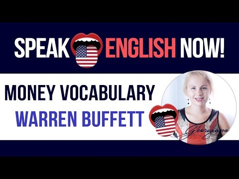 #082 English Money Vocabulary- Warren Buffett ESL