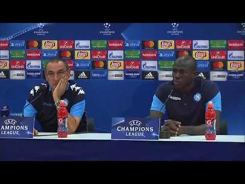 Champions League, Nizza-Napoli: la conferenza di Sarri e Koulibaly (21-08-2017)