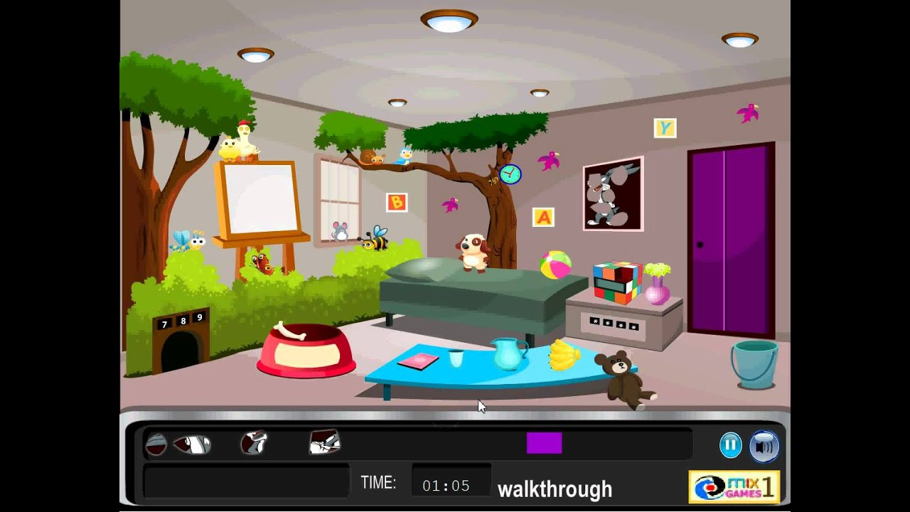 modern cartoon room escape walkthrough - youtube