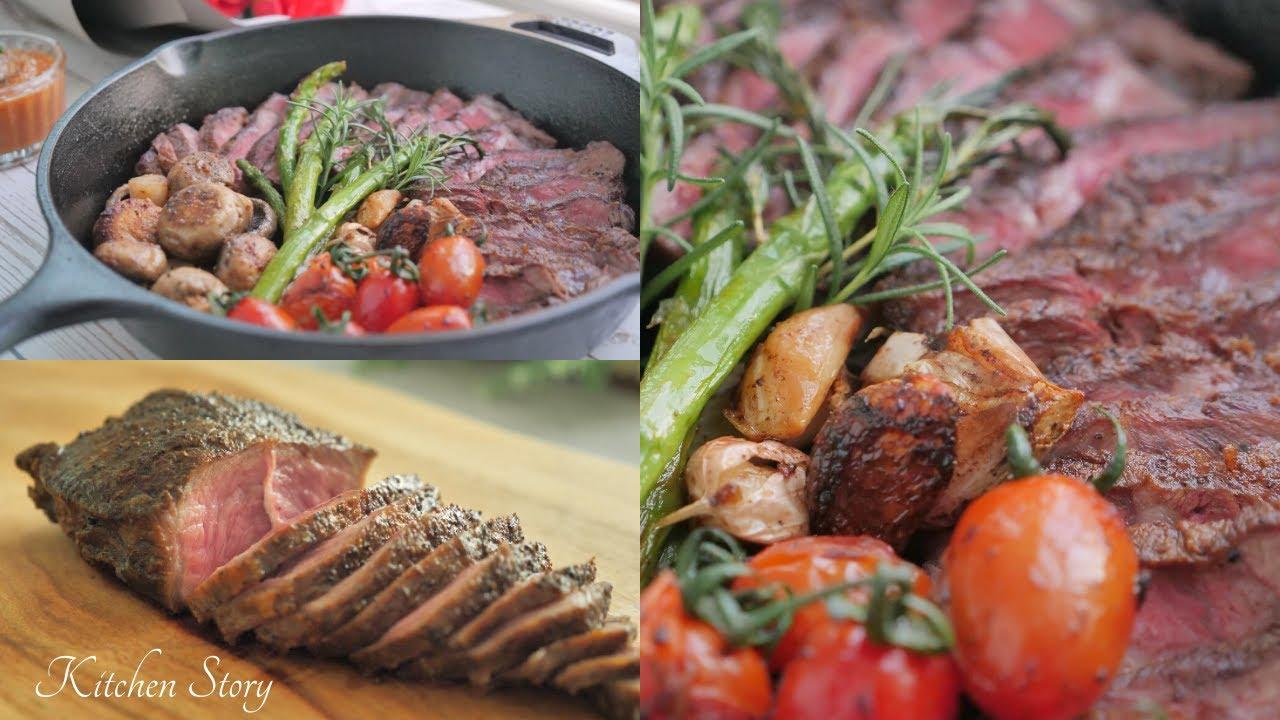 ស្តេកសាច់គោ[Beef Steak]ម្ហូបបរទេស[Kitchen Story]