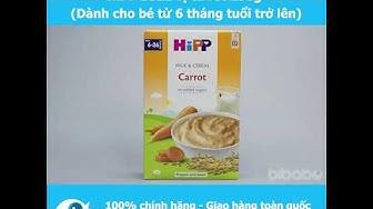 Bột sữa và ngũ cốc rau củ Dinh dưỡng HiPP vị cà rốt 250g dành cho bé từ 6 tháng tuổi - Bibabo