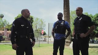 Uriah Hall rides along with LAPD