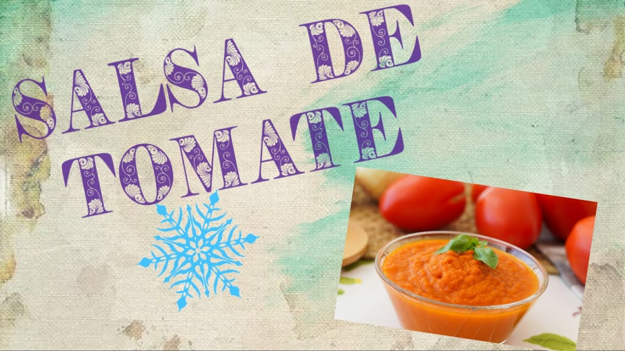 SALSA DE TOMATE || fácil de tomate