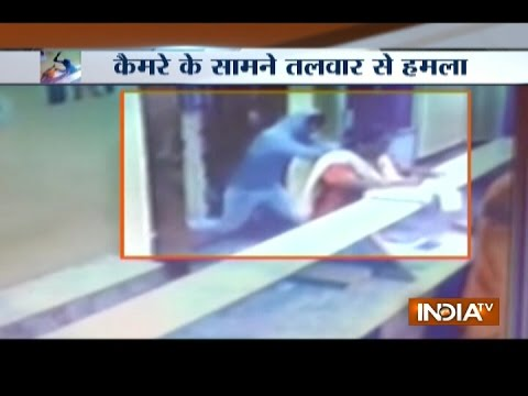 Caught On Camera: Goons Attack With Sword On Woman In Karnat