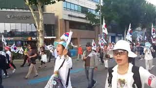 9/2 박근혜 대통령을 연호하는 애국시민들의 목소리로 거리가 가득 채워지다.
