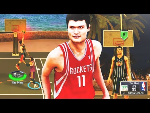 YAO MING THE BIGGEST CENTER EVER AT THE PARK! • 7'6 DEMIGOD CAN'T BE STOPPED! • NBA 2K17