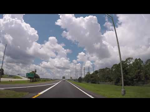 Driving from Walt Disney World to Busch Gardens in Tampa Florida Time Lapse