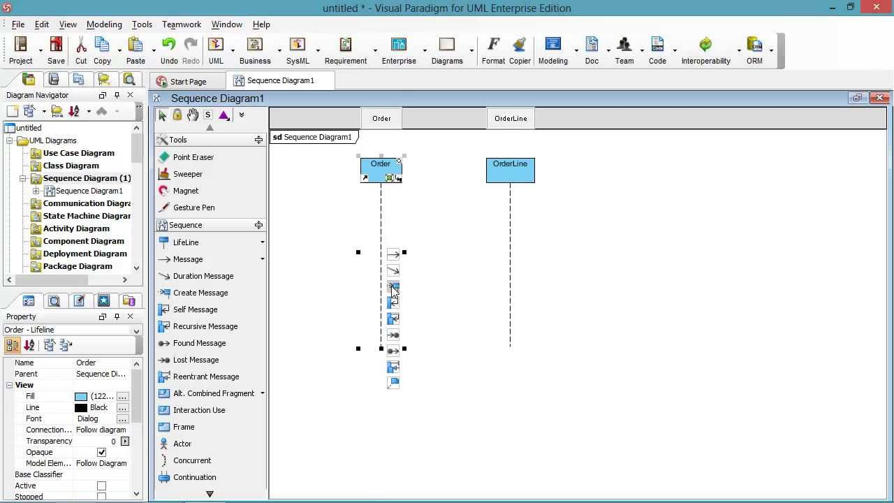 Draw Sequence Diagram Create Message Youtube Objects Use Cases State Interaction