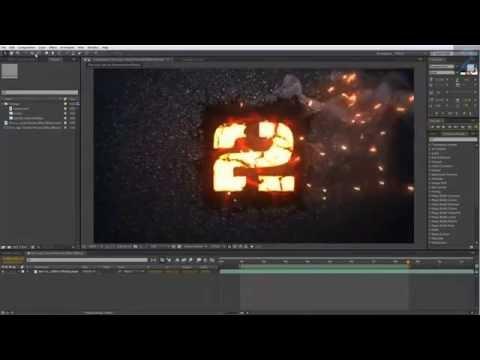 [After Effects Tutorial 2014] Fire Logo Effect