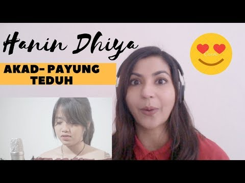 AKAD- Payung Teduh cover by Hanin Dhiya - Reaction Video!