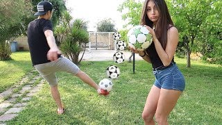 GARDEN FOOTBALL CHALLENGE vs LA MIA RAGAZZA !!!