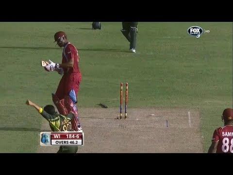 Junaid Khan Clean bowled Gayle and Pollard 3rd ODI 2013