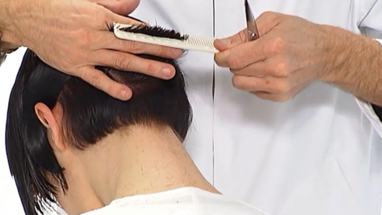Короткая женская стрижка | Боб каре с челкой - YouTube