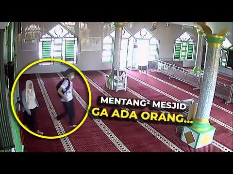 Kelakuan Tidak Terpuji Pasangan Remaja Ini Saat Mesjid Sepi Terekam CCTV,,, Netizen Auto Elus Dada