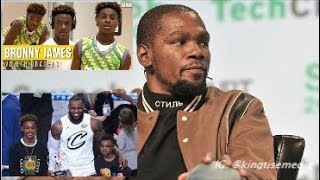 Kevin Durant Praises LeBron James Son Bronny After Watching His Highlights