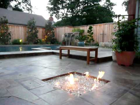 Natural Environments Glass Outdoor Fire Pit, Dallas, TX