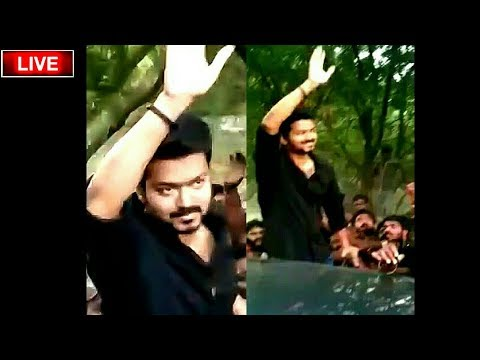 VIJAY 63 : நடுரோட்டில் ரசிகர்களை அலறவிட்ட Thalapathy Vijay ! Thalapathy 63 Video ! Vijay video