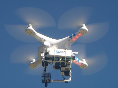 VOXearch drone flight with spectrometer and organic farm flyover
