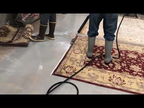 Carpet cleaning at DA Burns.