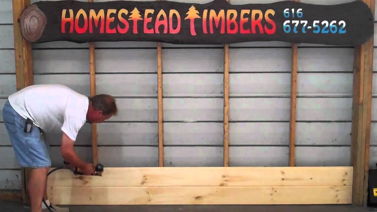 How To Install Homestead Timbers Tongue And Groove Paneling.   YouTube