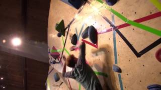 You've heard of climbing, you've probably heard of bouldering, but have you heard of dyno-ing? A dyno is a dynamic climbing move between two distant holds. It often involves leaping... and falling. Bod Toss was a rad dyno competition in Flagstaff.