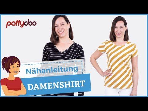 Shirt selber nähen - Rollkragen, V-Ausschnitt, Puffärmel, Bündchen ...