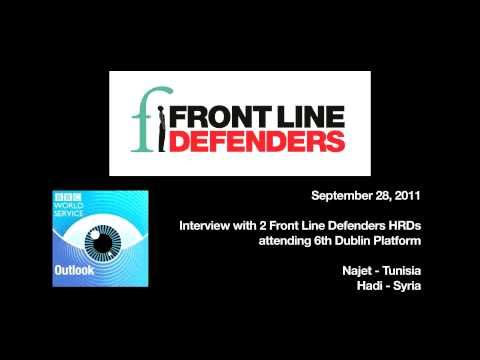 Front Line Defenders on BBC Outlook