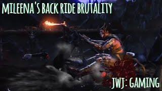 Mortal Kombat XL - Mileena performs Back Ride Brutality [Gameplay Version 2]