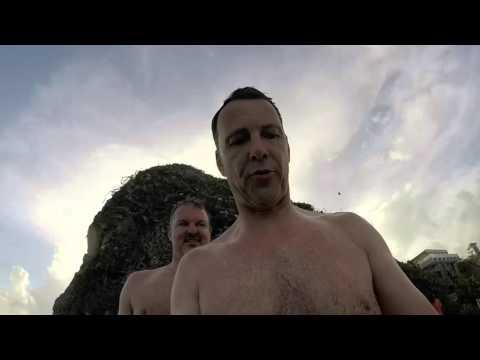 Cliff Diving at Crane Beach