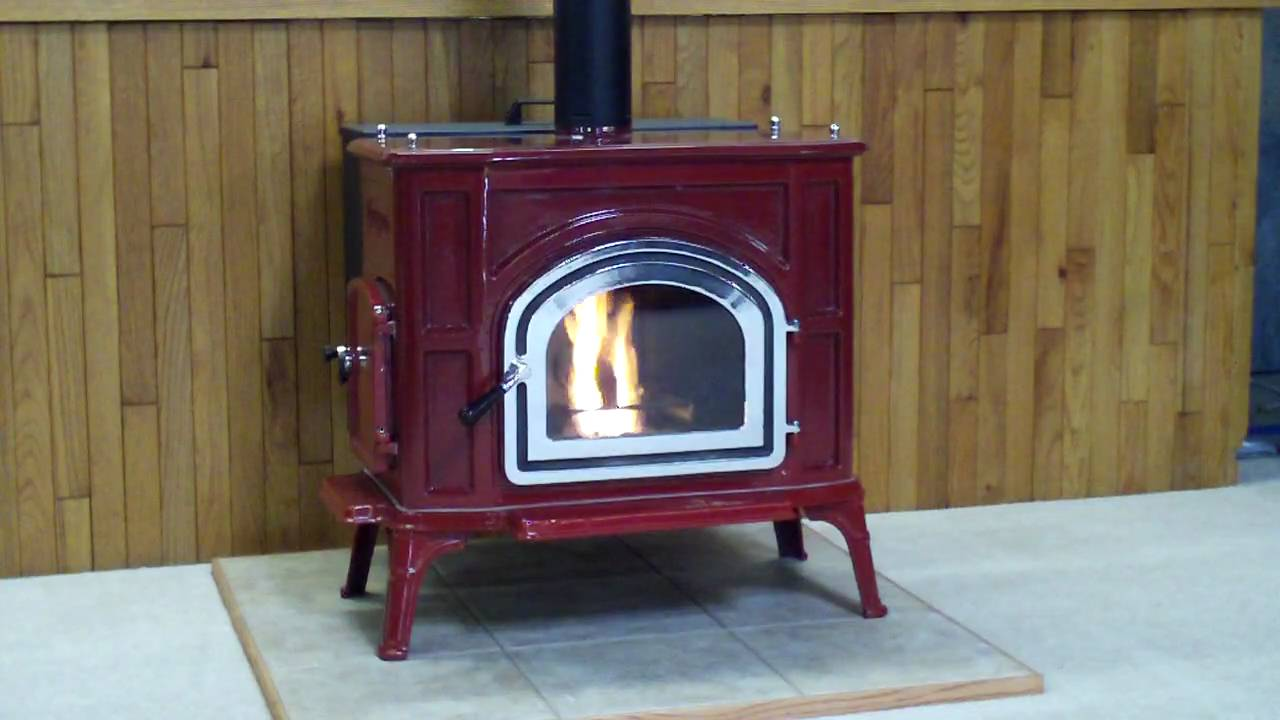 Red Upland Pellet Stove Youtube