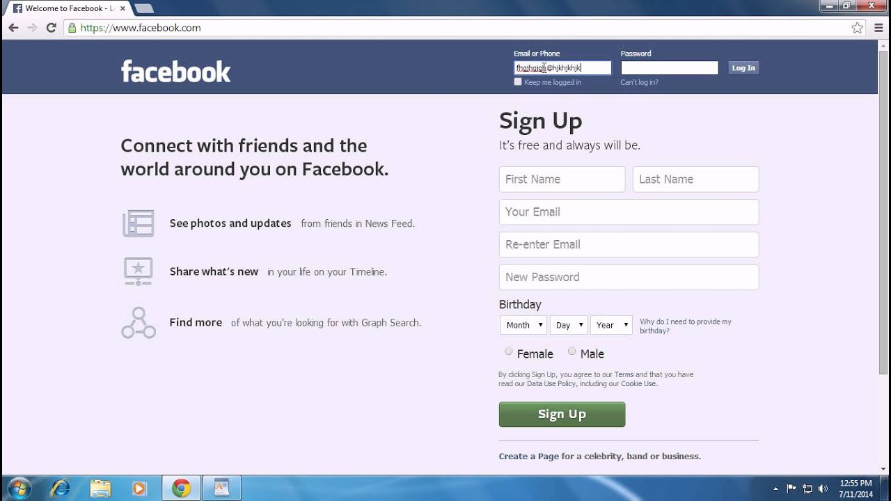 www welcome to facebook login