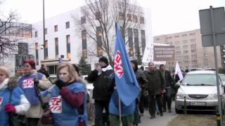 Protest pracowników przed Polfą 2/2 (12.12.11)