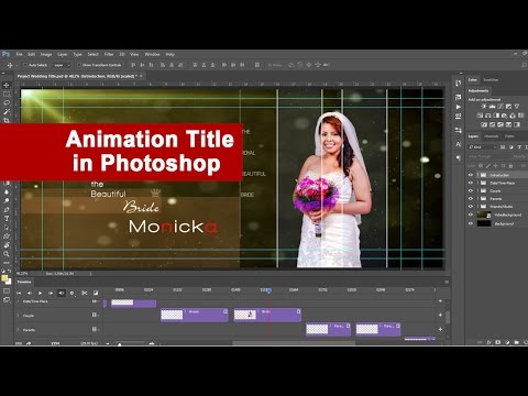 Photoshop : How to create Video Title with simple steps