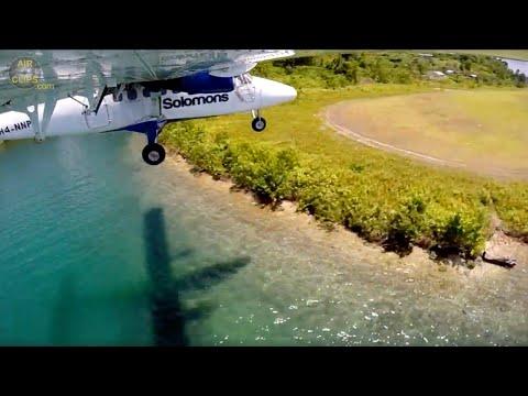 BREATHTAKING!!! Dash 6 Twin Otter Jungle Strip Landing in BEAUTIFUL Seghe, Solomon! [AirClips]